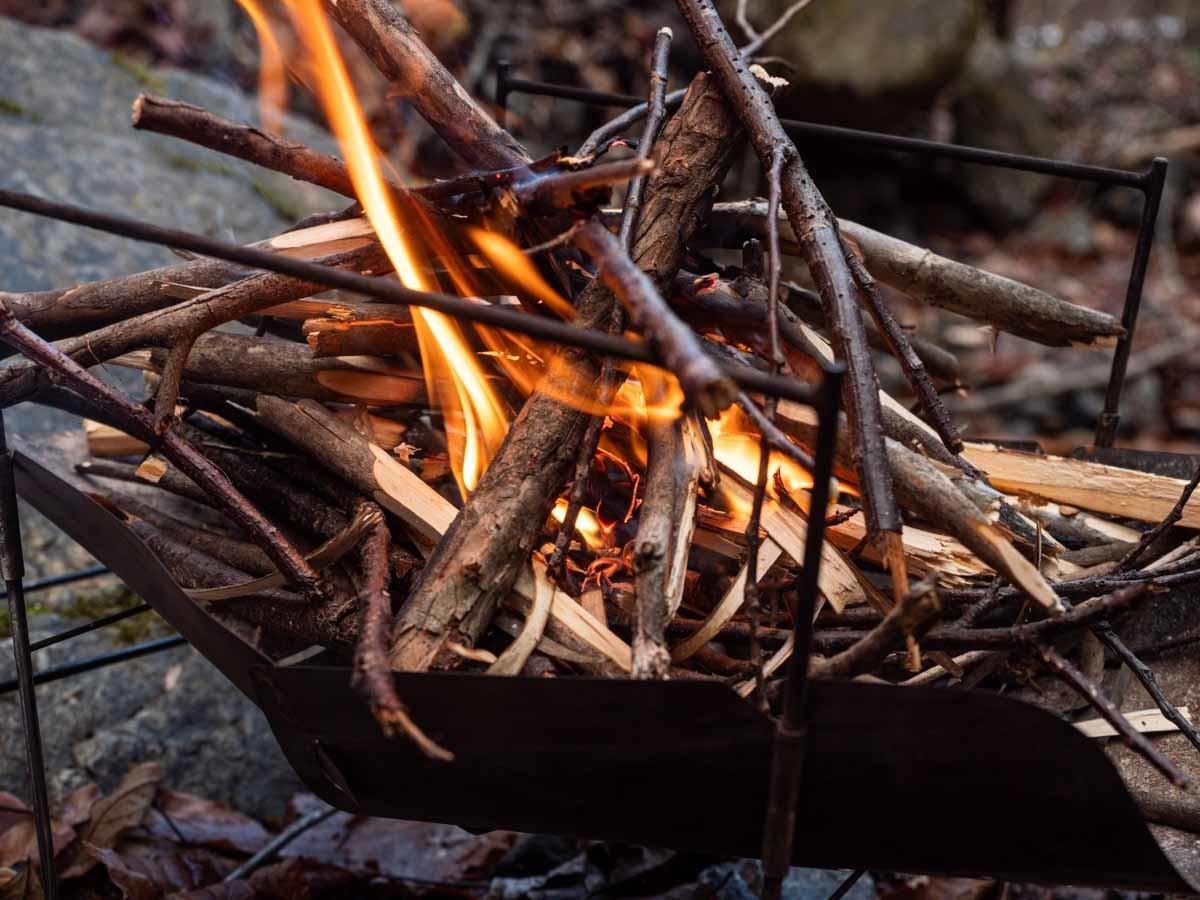 ピコグリルで焚き火に着火