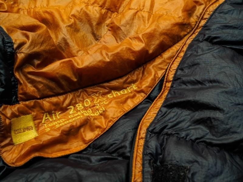 イスカの寝袋AIR280Xショート