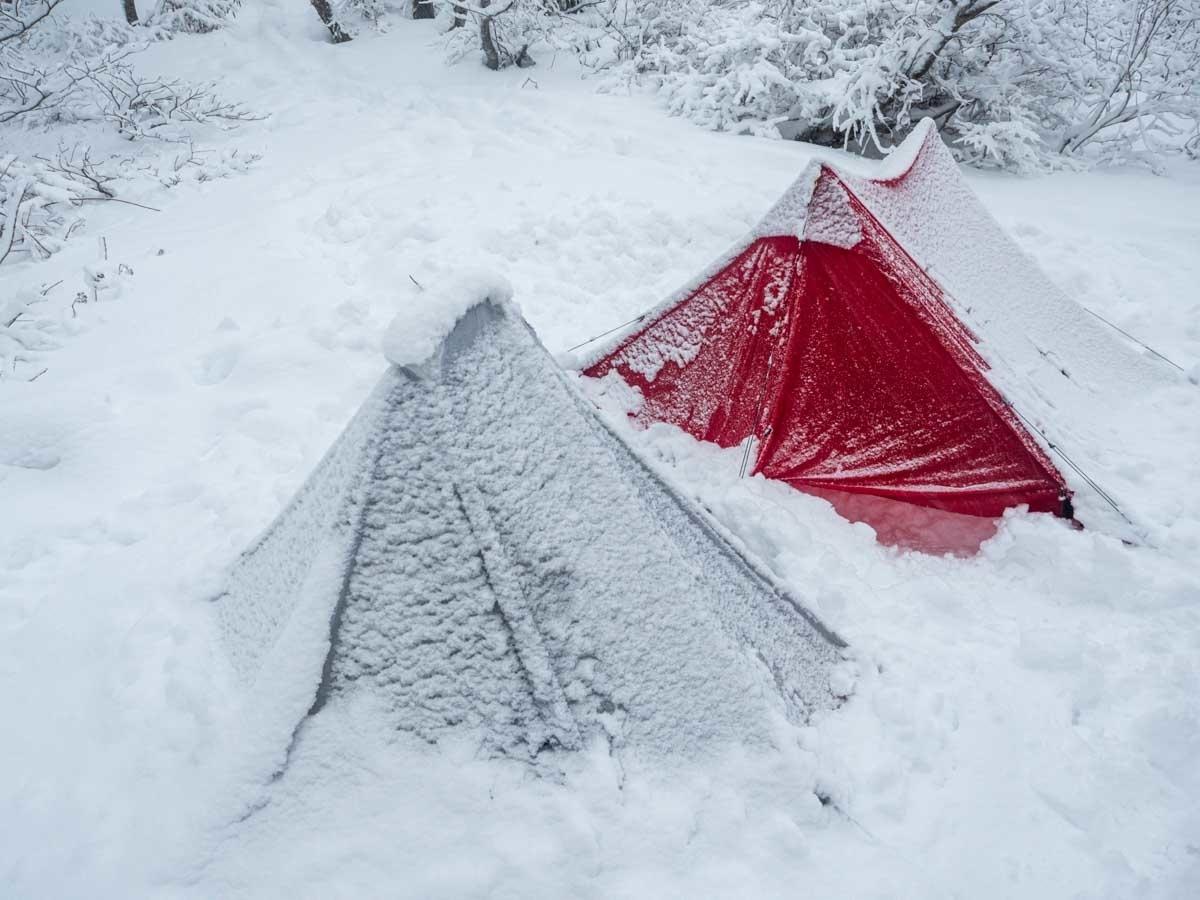 積雪時のディリゴ2とLibra2