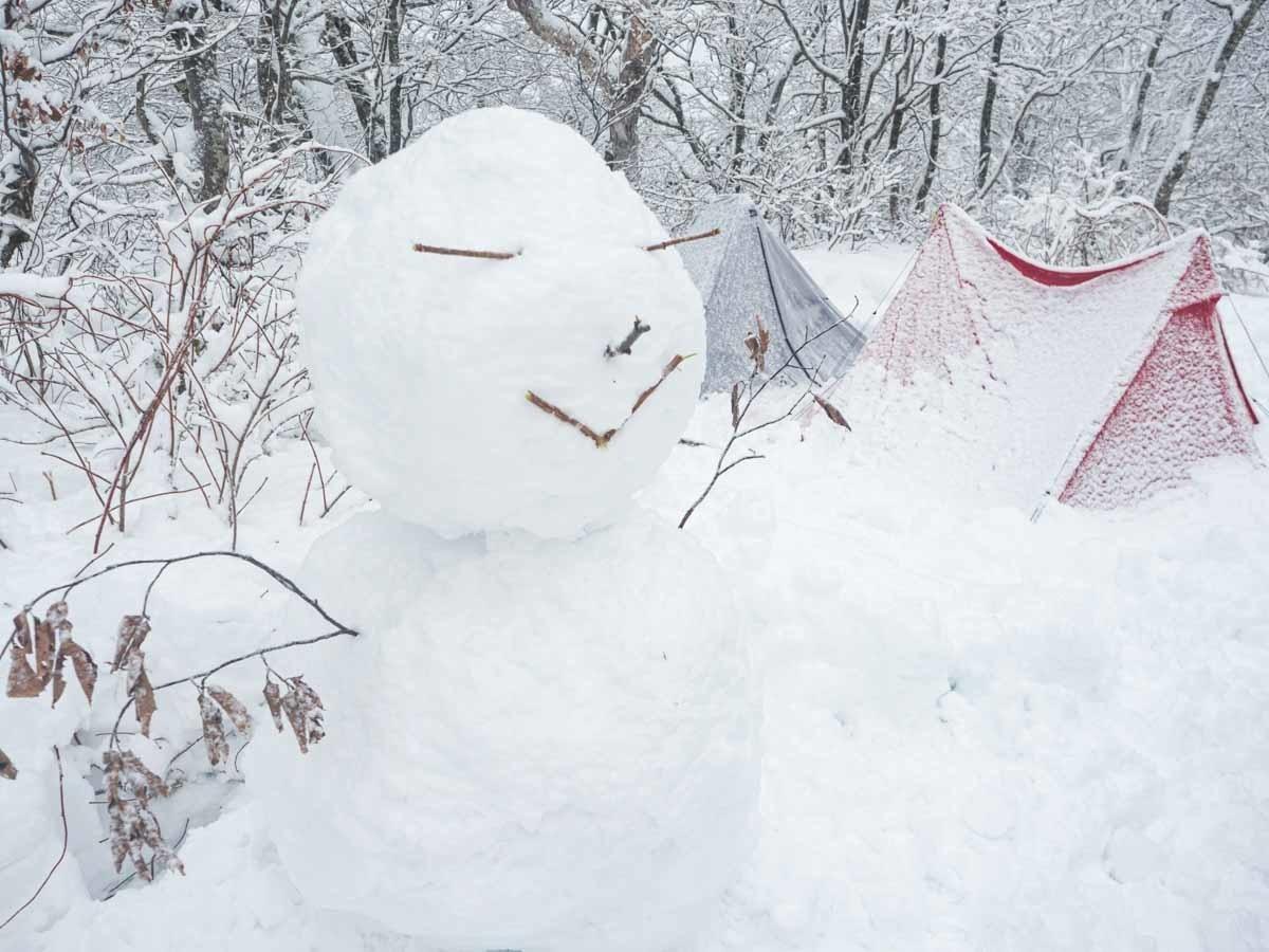 雪だるまを作る