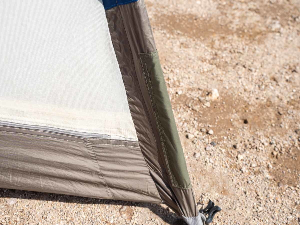 プロモンテ VL25 テント 倒立スリーブが破けて修理