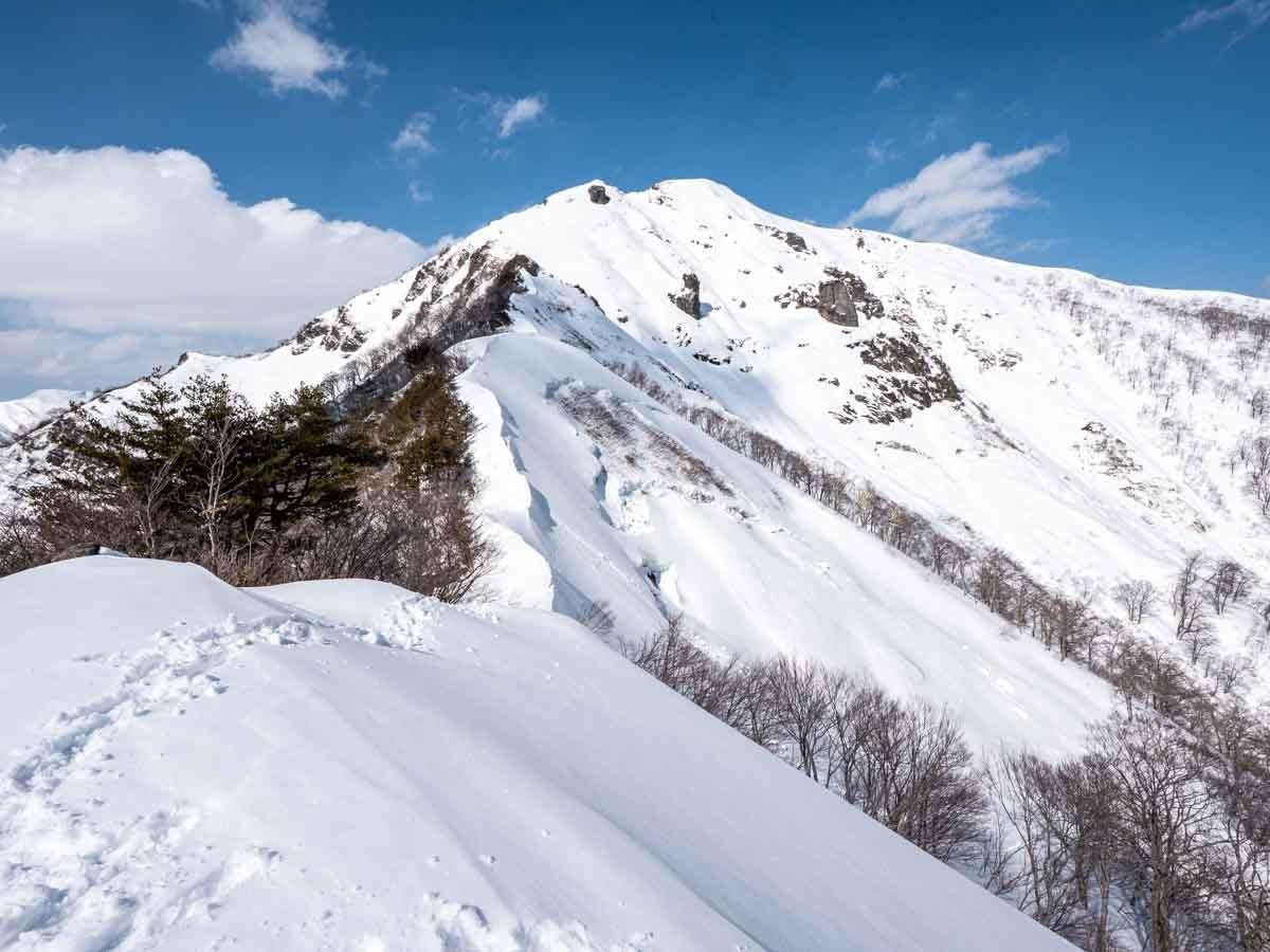 冬の白毛門1484m地点