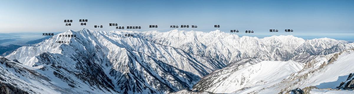 五竜岳パノラマ