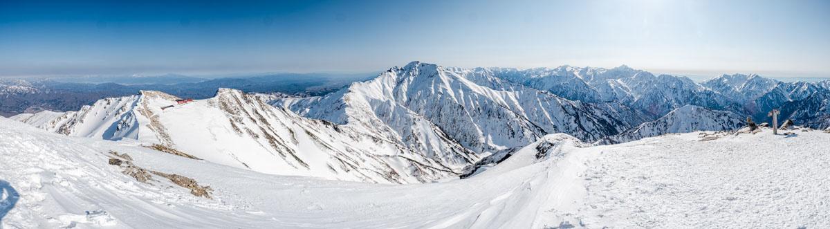 唐松岳山頂からのパノラマ