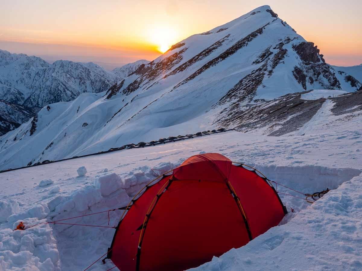 唐松岳とテント