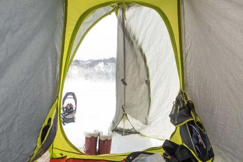 テントから見た外の景色