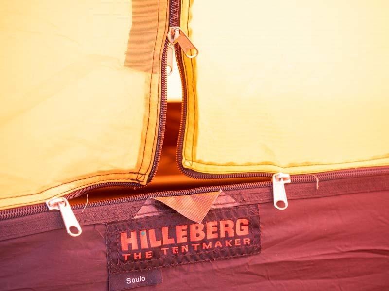 ヒルバーグソウロ インナーテントのジッパー