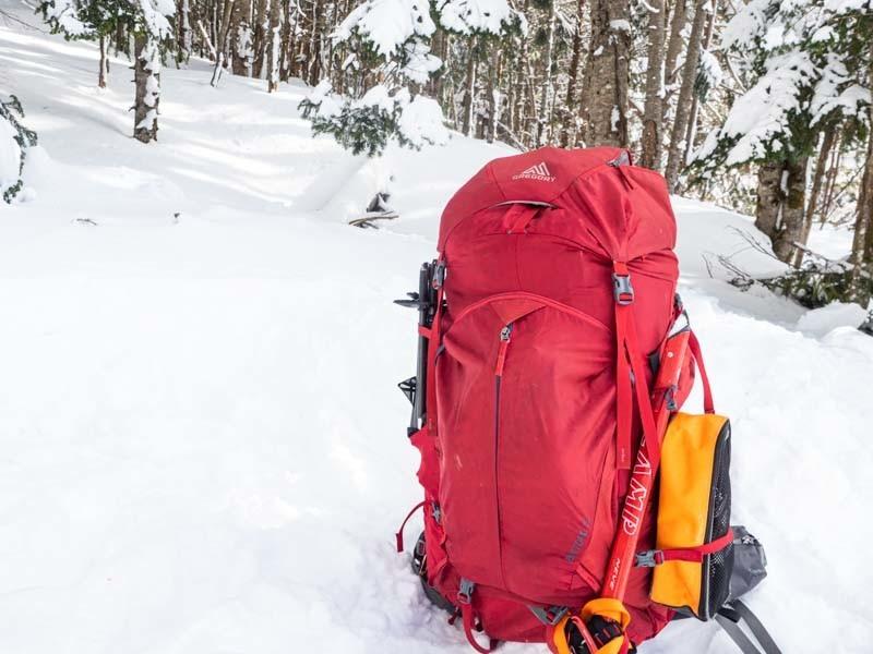 冬山テント泊 パッキング