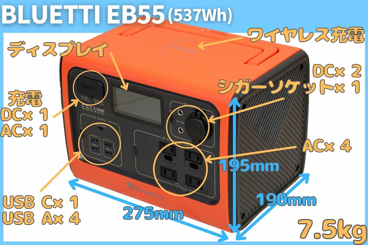 BLUETTI EB55スペック