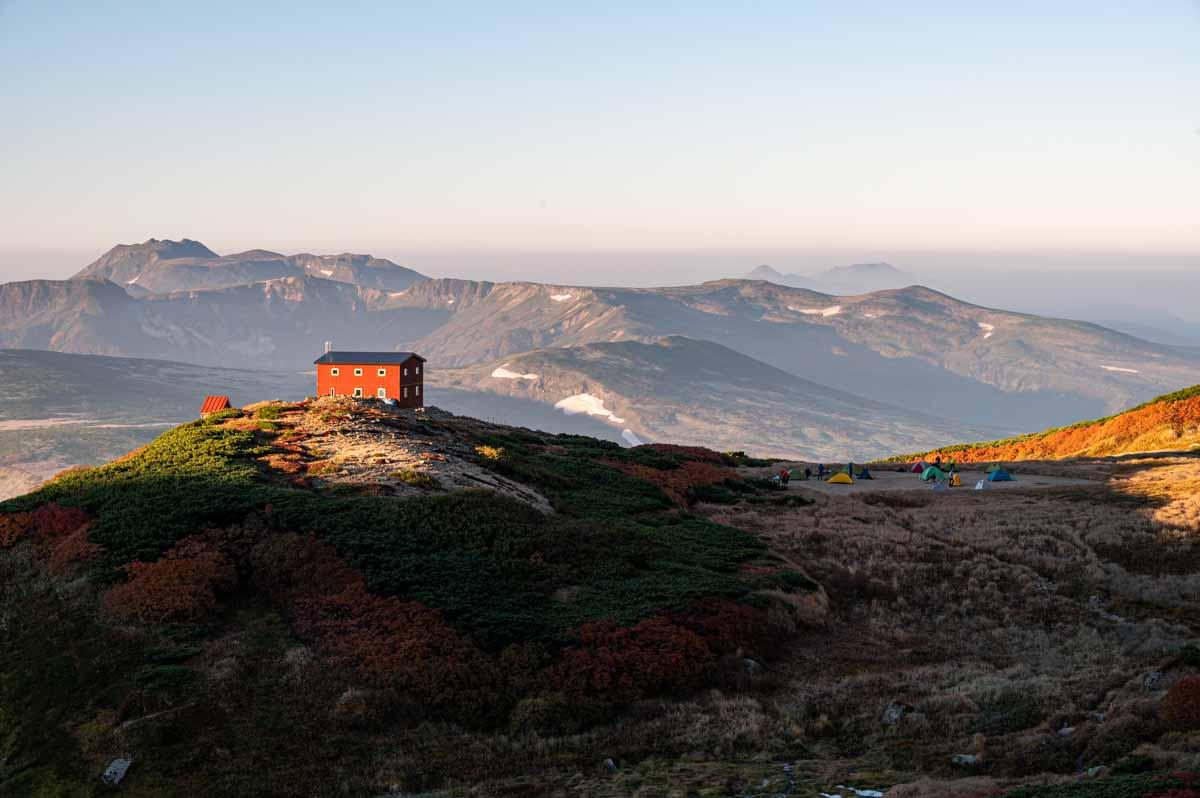 白雲岳避難小屋 テント泊登山