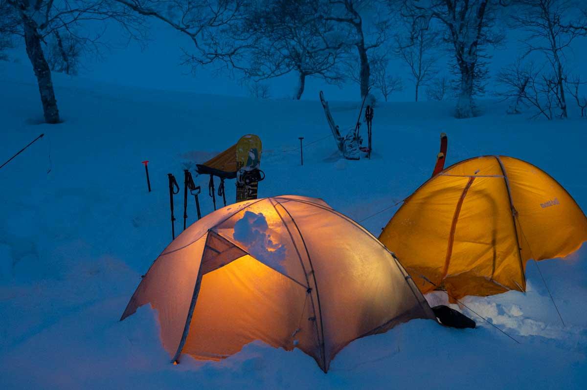 冬山 テント泊