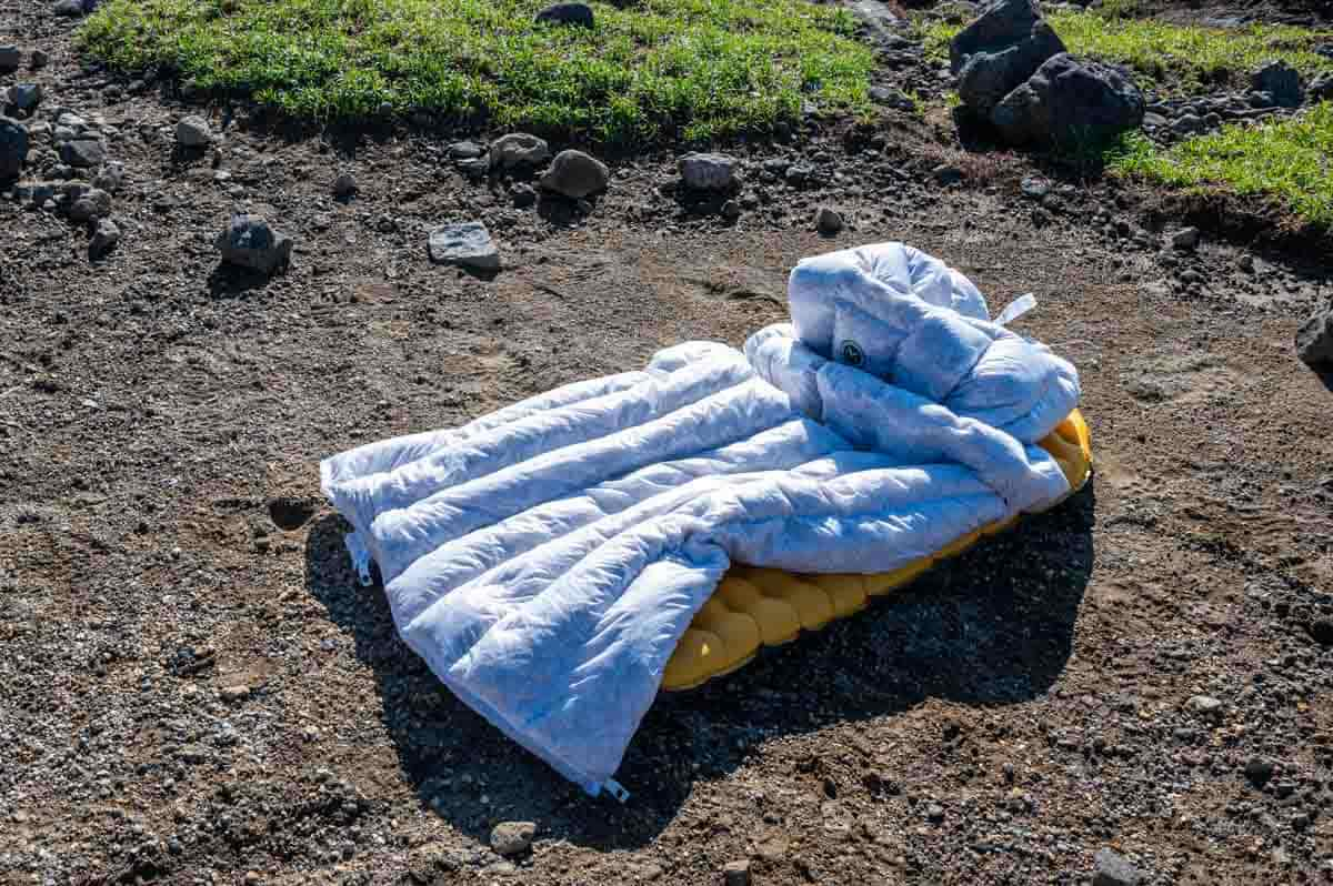 寝袋とマット