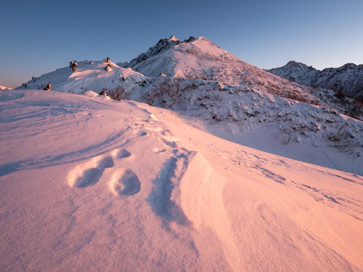 冬山の日の出