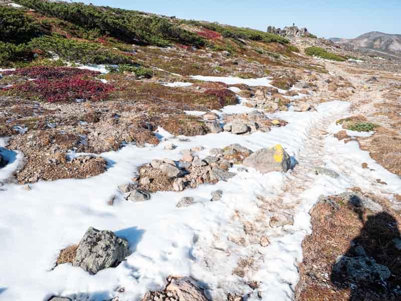 大雪山 赤岳 残雪