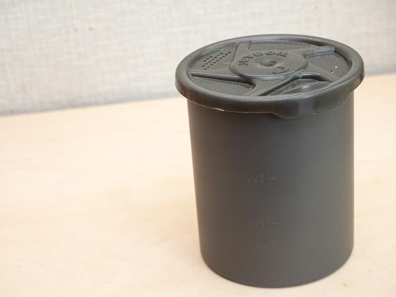 SOTO750カップにジェットボイルのフタ