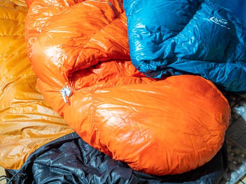 ダウン寝袋3種