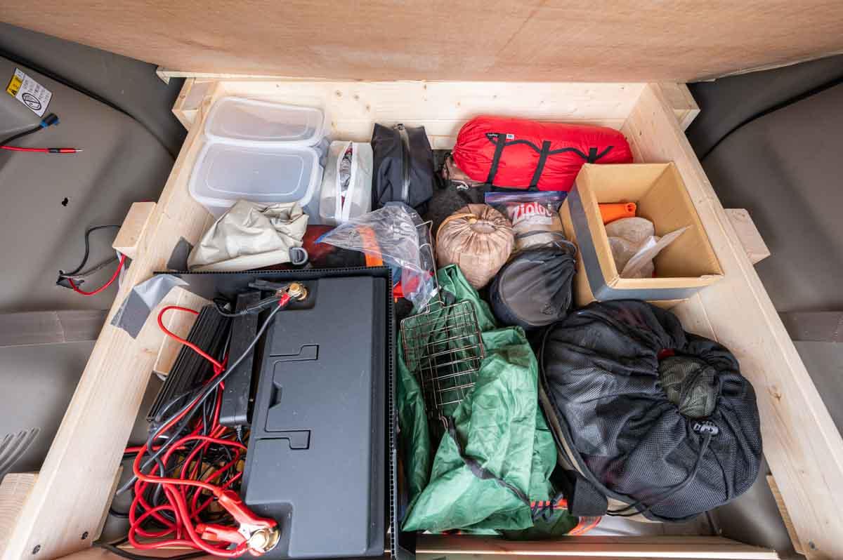 車中泊用ベッド自作