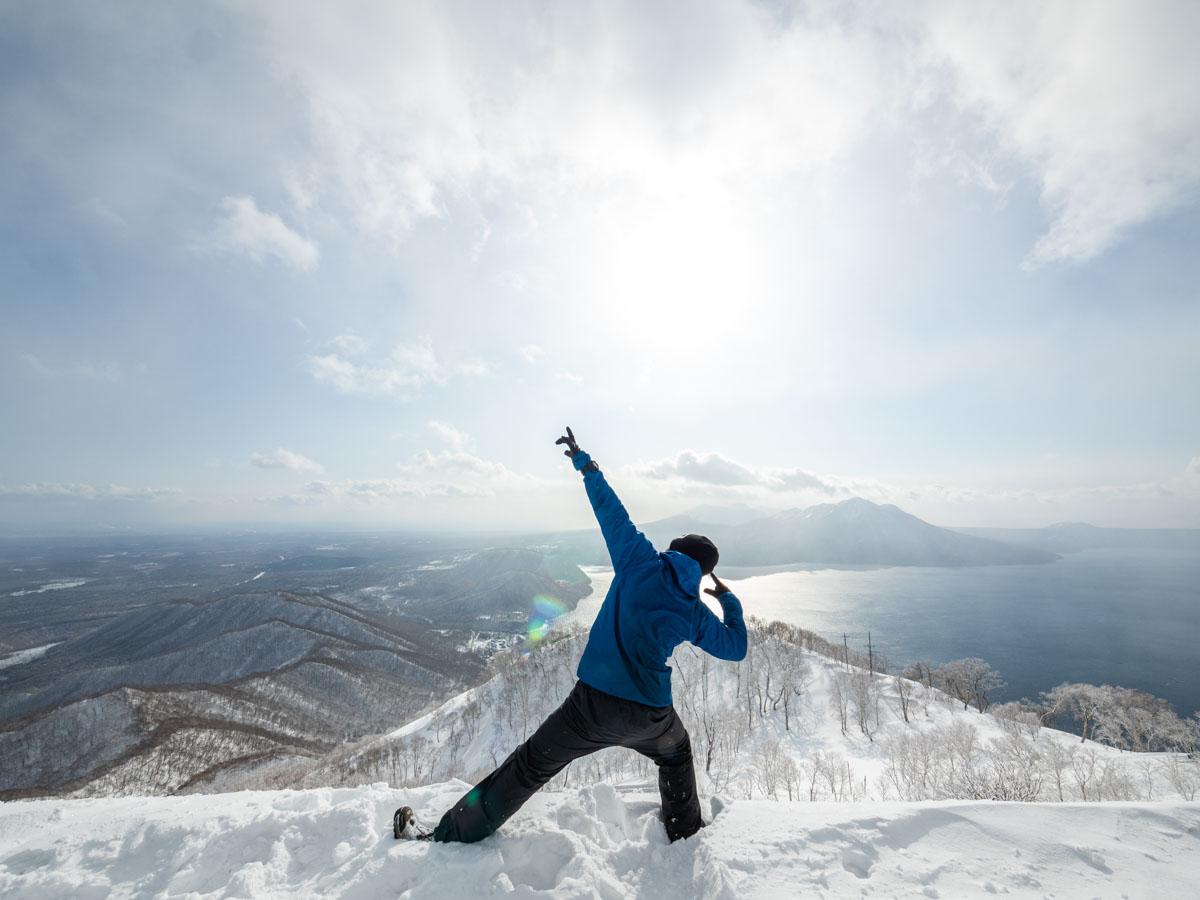 冬山自撮り