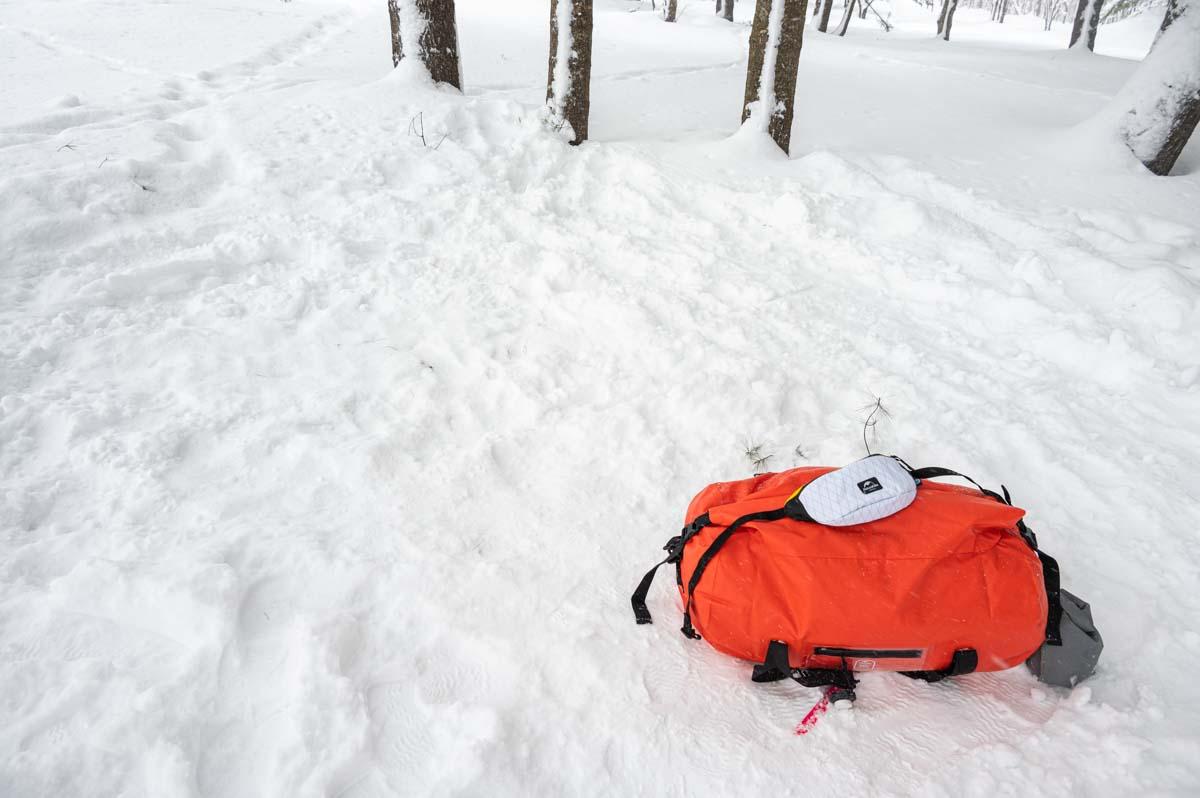 冬キャンプ 撤収