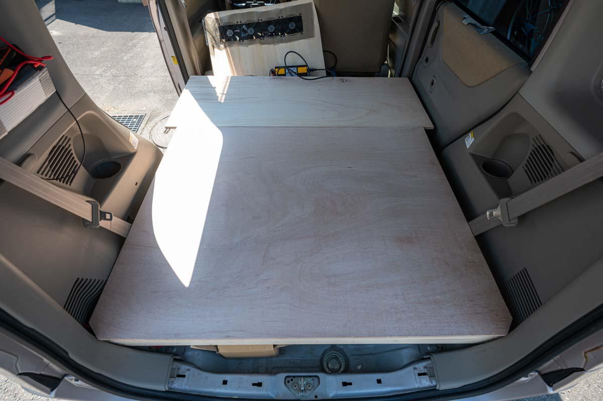 車中泊用ベッド自作 天板