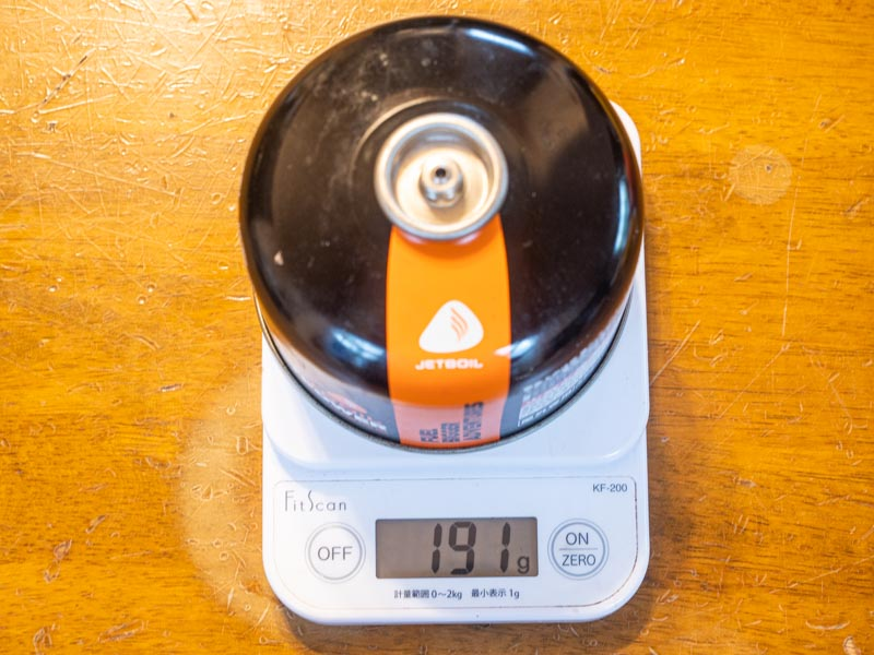 OD(アウトドア)缶 充填量各社比較