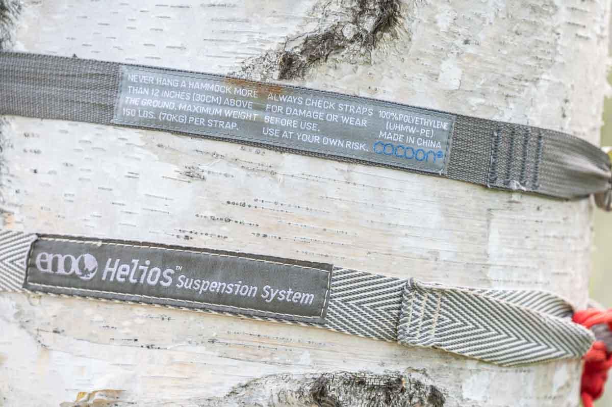 Cocoon Hammock Strap ULとeno Helios Suspension System