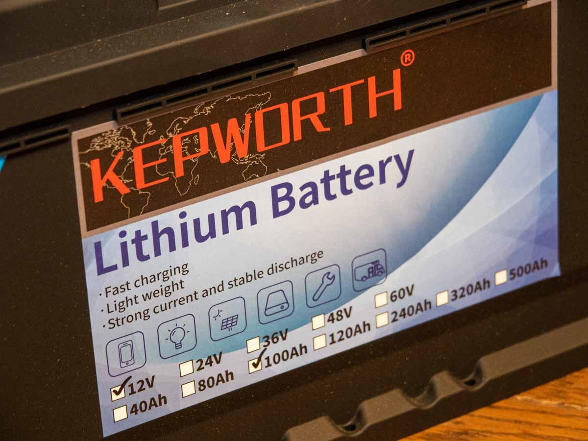 Kepworth LiFePO4 リン酸鉄リチウムイオンバッテリー