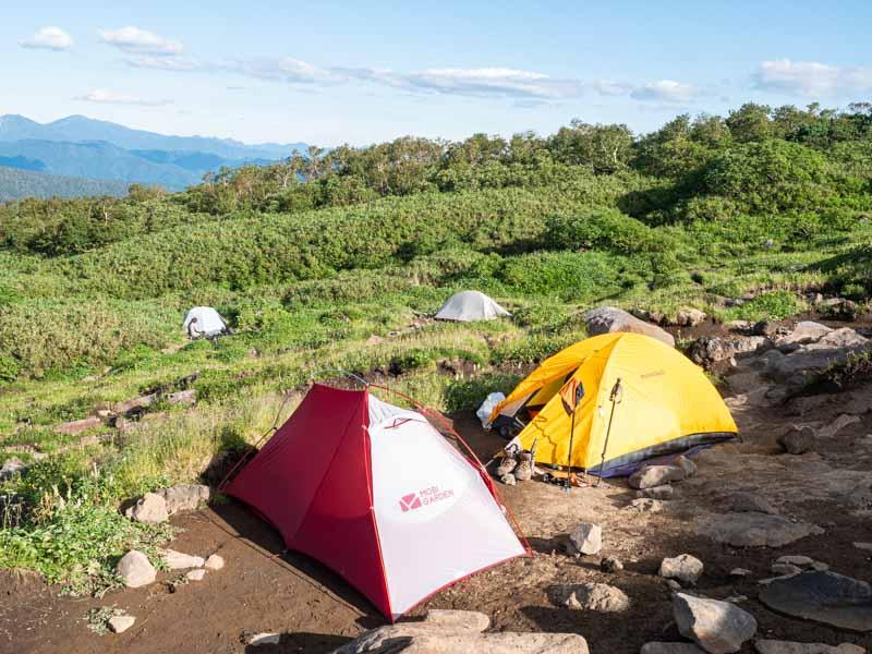 双子池キャンプ指定地