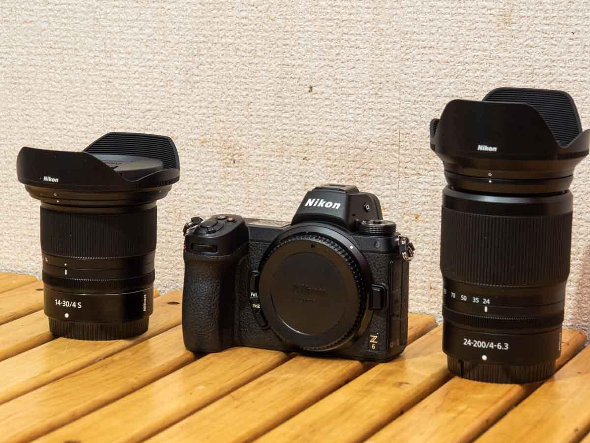 ニコンZ6 14-30mm 24-200mm