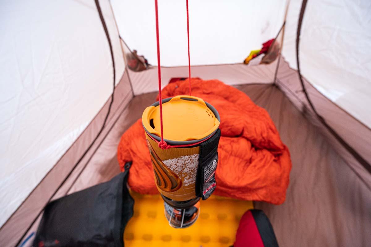 ジェットボイル テント内ハンギング