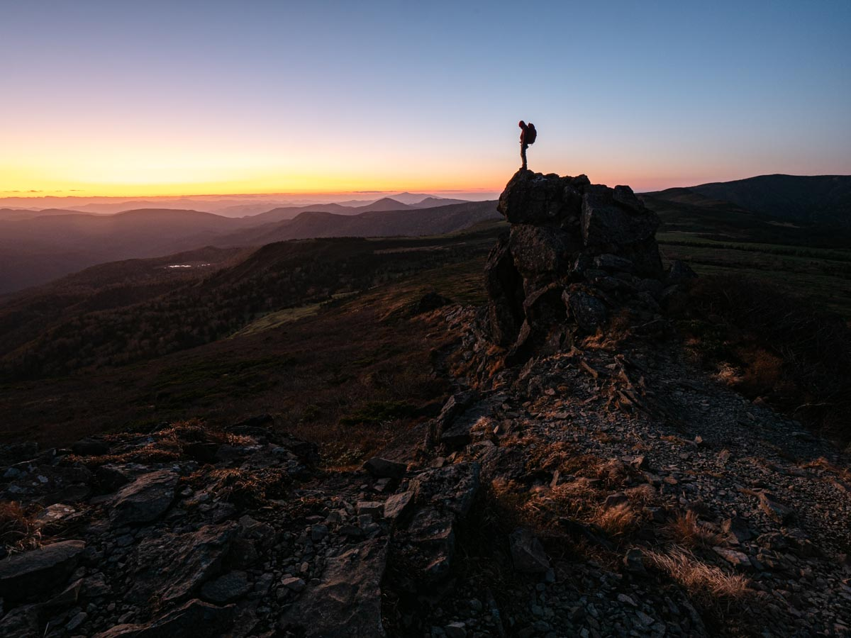 登山自撮り