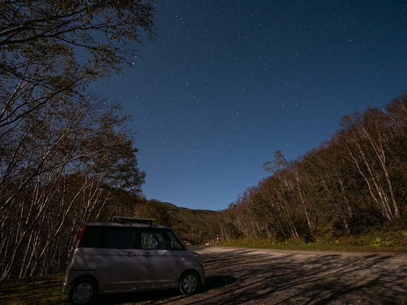 銀仙台駐車場の星空
