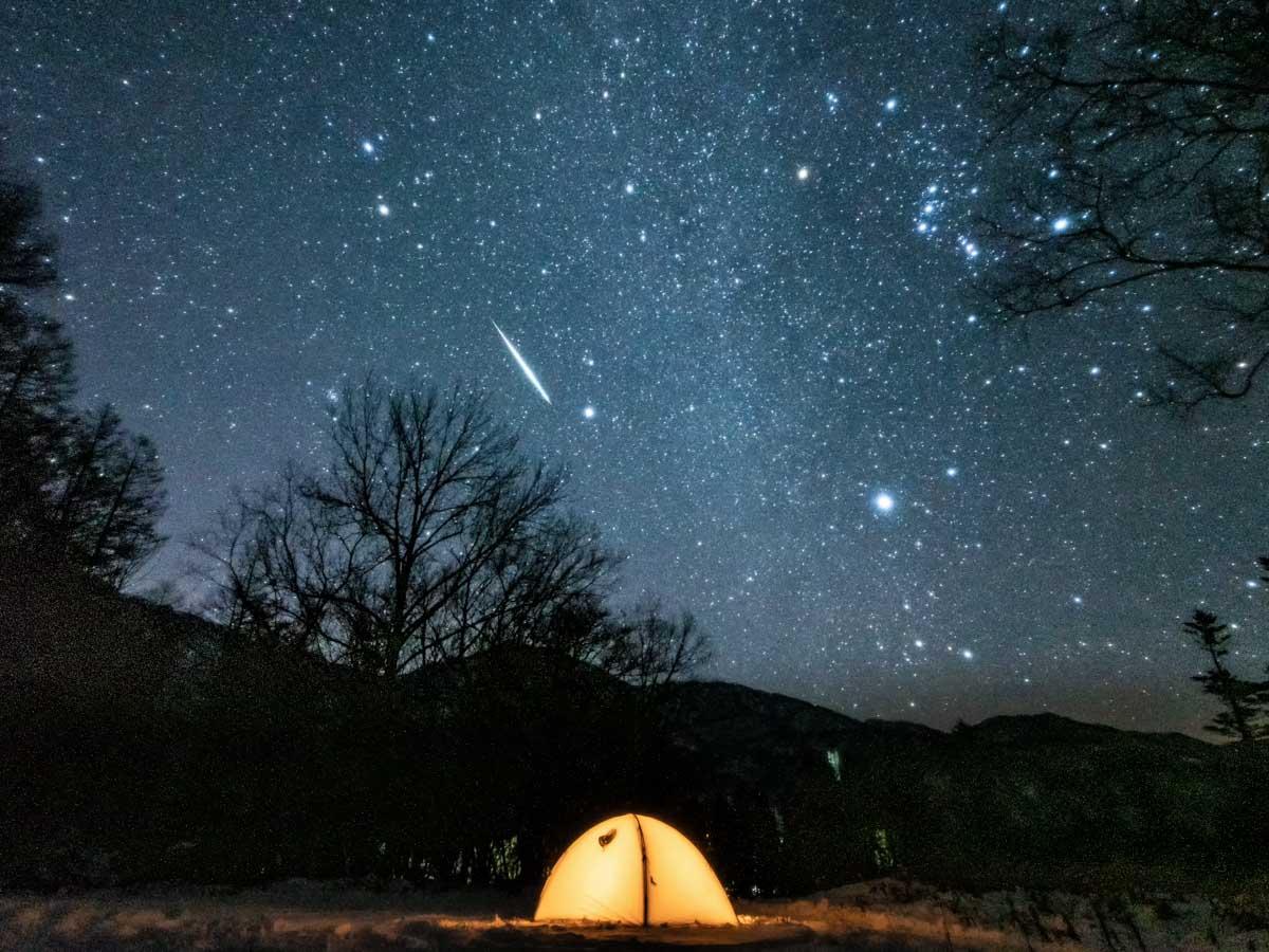 流星群とテント