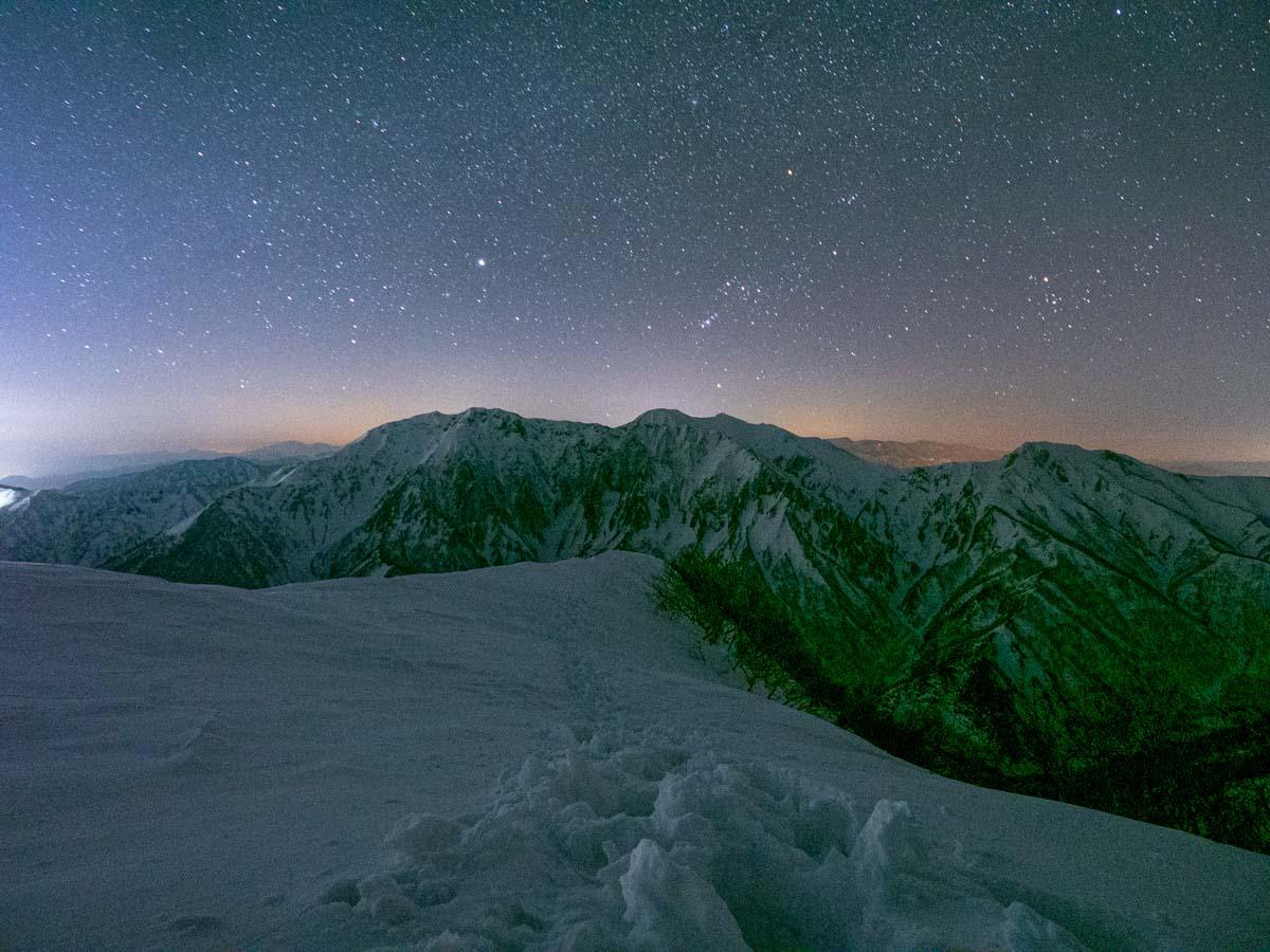 冬山の星空