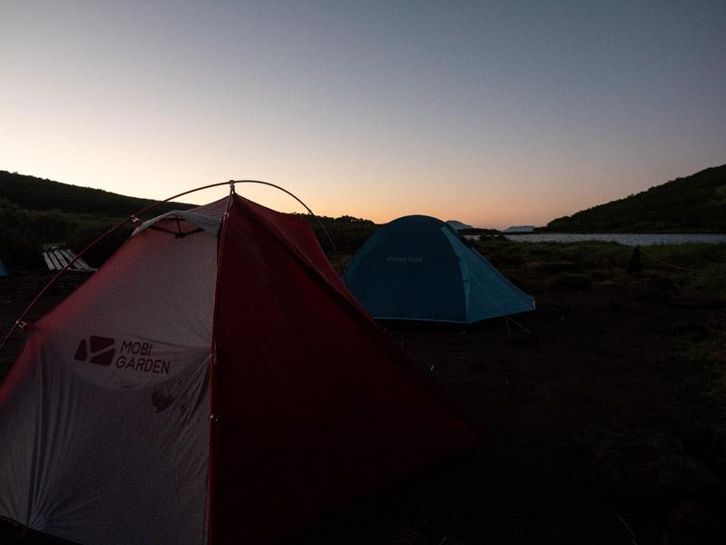 クチャンベツ沼ノ原~トムラウシ ヒサゴ沼の朝