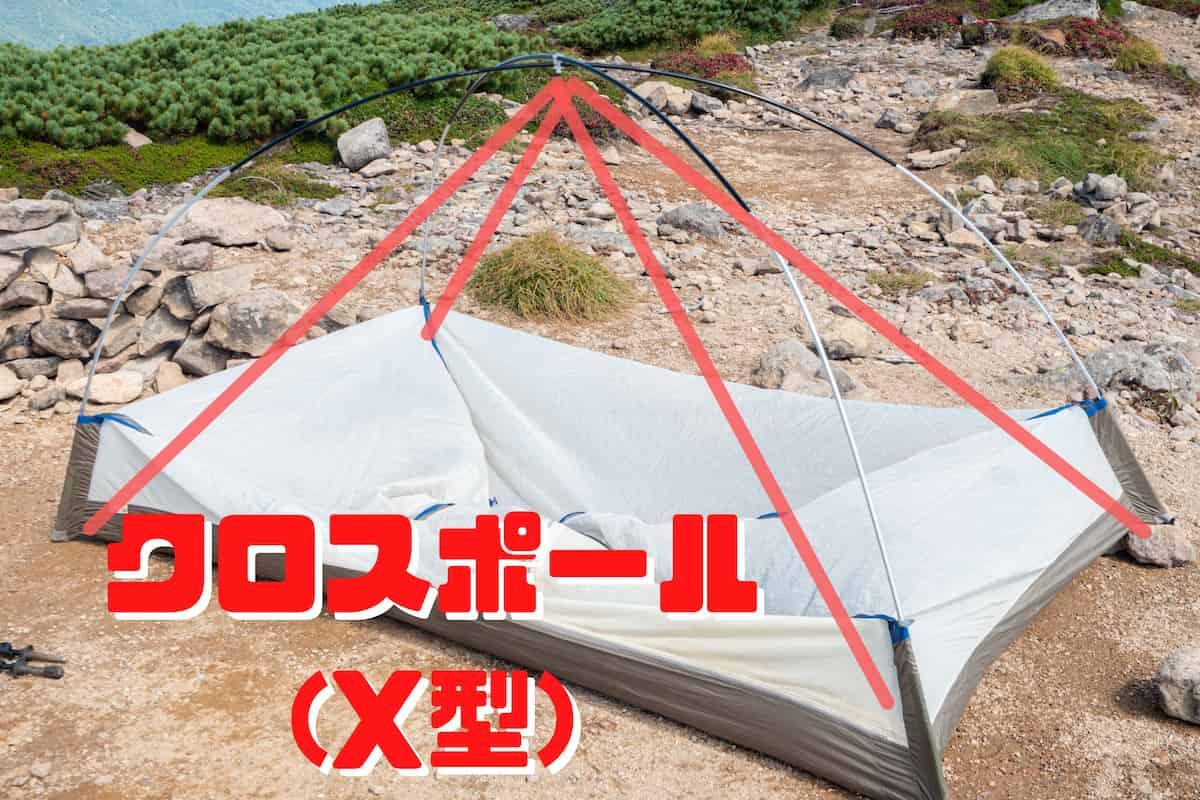 クロスポール X型テント