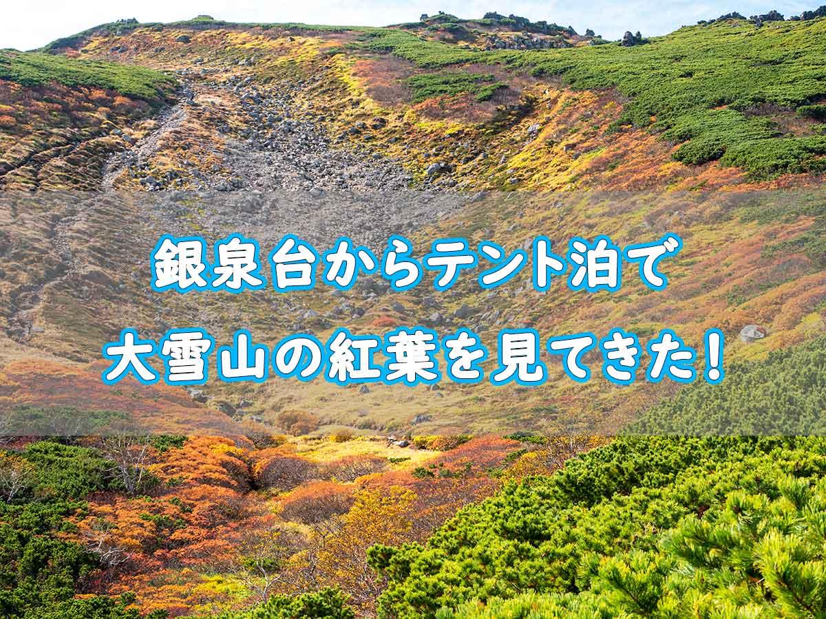 銀泉台で紅葉登山