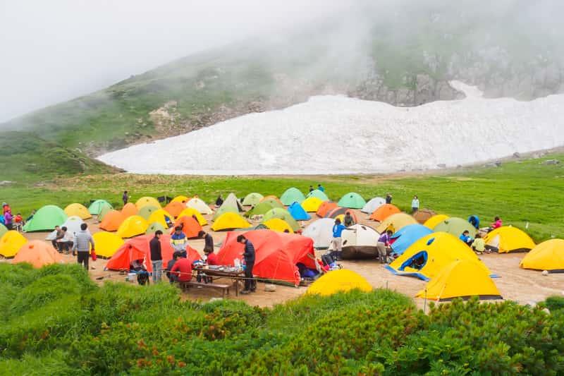ソロキャンプ キャンプ場はテントがいっぱい